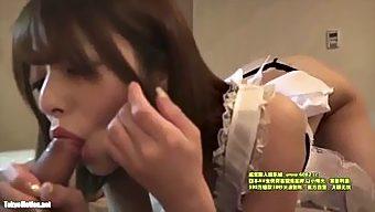 【無修正】S級美少女とメイドコスハメ撮りSEX